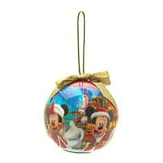 Disneyland Paris Light-Up Christmas Bauble | Disney StoreFree Shipping - Brighten up festivities with our Disneyland Paris light-up bauble. Mickey and Minnie appear in a classic Christmas scene on the traditional decoration, which has a gold bow and colourful flashing lights!