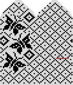 Ideas For Crochet Mittens Tricot Knitted Mittens Pattern, Fair Isle Knitting Patterns, Crochet Mittens, Knitting Charts, Knitting Stitches, Knitting Designs, Knitting Socks, Filet Crochet, Crochet Chart