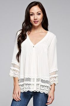 $78.00 Lily Blouse Off White