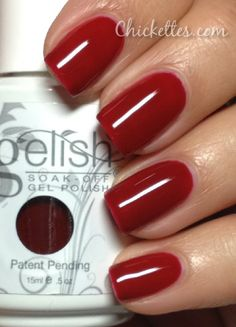 Gelish Lady In Red Swatch - Year of the Snake Collection