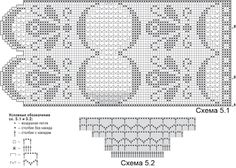 Filet Crochet, Crochet Patterns Filet, Beading Patterns, Crochet Curtains, Crochet Doilies, Knitting Charts, Knitting Patterns, Home Crafts, Diy And Crafts
