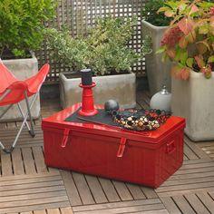 Table basse/Malle/Cantine L90xH33 cm Acier IRON Pierre Henry port offert