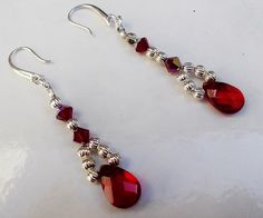 Red Beads Woven Earrings by BlueLicorice on Etsy, $12.00