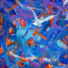 """Sunset Flight"" painting by Metro"