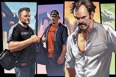 The Cast of GTA V if they were in the game's loading screen- Leanna Cecil- Usa Games Gta V Ps4, Gta 5 Xbox, Franklin Gta 5, Game Gta V, Gta V Cheats, Gta 5 Funny, Grand Theft Auto Series, Wow Video, Fallout New Vegas