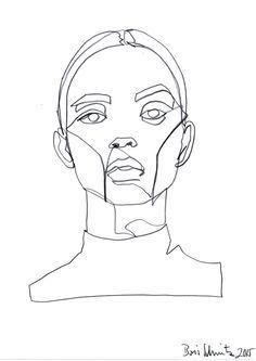 """borisschmitz: """" """"Gaze 324″, continuous line drawing by Boris Schmitz """""""