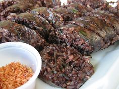 soondae. two words: korean. blood sausage. ok, that was three but this is one of my fav foods ever.