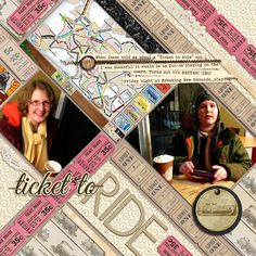 Jazz up Favorite Scrapbook Layout Designs by Putting them On An Angle | Debbie Hodge | Get It Scrapped