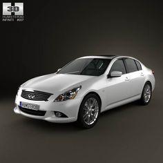 Infiniti G37 Sedan 2011 3d model from humster3d.com. Price: $75