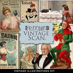 Freebies Vintage Labels Kit