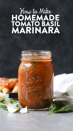 Ever wondered how to make your own marinara sauce? It's so easy! For this Homemade Roasted Tomato Basil Marinara Sauce you'll only need a few ingredients...no added sugar included!