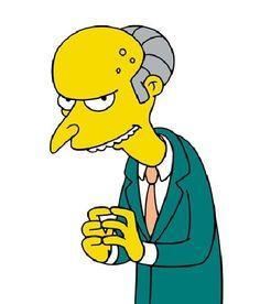 "Mr. Burns - ""The Simpsons""."