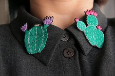 Embroidered brooch Cactus brooch Cactus pin Succulents brooch Cactus embroidery pin Woodland brooch Nature inspired pin Cactus lover gift Gift girlfriend idea Mom from daughter Mom daughter from  ***** DESCRIPTION ***** Embroidered jewelry will help you to emphasize your individuality and create your own unique style. This accessory is ideal for your favorite dress, shirt, jacket, coat or even bag. The hand-embroidered brooch will create a bright accent on your perfect summer look, and it…