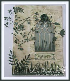 Card by Ira Huberts  (072713)  [Poppystamps Grand Gothic Luminary Window,  Grassland Border, Meadow Leaf]