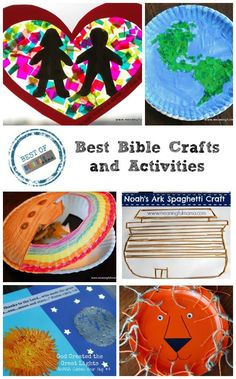 Best Bible Crafts at Meaningful Mama - Great Ideas for Children's Church or Sunday School Bible Study Crafts, Bible Activities For Kids, Bible School Crafts, Bible Crafts For Kids, Bible Study For Kids, Preschool Bible, Church Activities, Sunday School Crafts, Religion