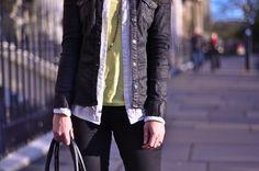Walking on sunshine  #fashion #neon #waxed #denim