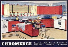 1940s chrome trim for linoleum - a 7-page Chromedge reference guide - Retro Renovation