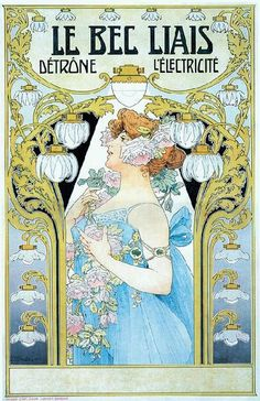 A Belgian artist and one of the best of the post-Mucha Art Nouveau stylists, Henri Privat-Livemont, grabbed my attention when researching artists that made an impact in Graphic Design. Art Nouveau Illustration, Art Nouveau Poster, Vintage Prints, Vintage Posters, Vintage Images, Vintage Art, Alphonse Mucha Art, Kunst Poster, National Gallery Of Art