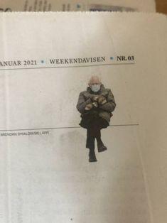 Bernie even appeared in a Norwegian newspaper Bernie Sanders, Newspaper, Mittens, Norway, Hilarious, Memes, Fingerless Mitts, Journaling File System, Fingerless Mittens