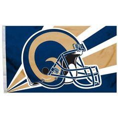 7c9372af96c NFL 3  x 5  Team Helmet Flag Las Angels Rams by Fremont Die