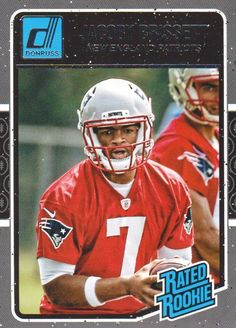 2016 Donruss Football #370 Jacoby Brissett RR RC New England Patriots #Donruss #NewEnglandPatriots