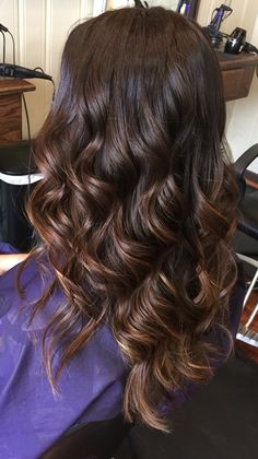Brown to caramel ombré hair color. Sombre hair color
