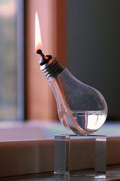 Recycled Light Bulb Oil Lamp Cube Base by RecycledLightCompany ($20-50) - Svpply