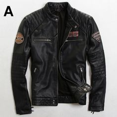 men fashion leather jacket on sale at reasonable prices, buy 2015 The New Do the old Slim British fashion Men's Wear Trend Multi-Standard Men motorcycle jacket Men's leather jackets from mobile site on Aliexpress Now! Best Leather Jackets, Men's Leather Jacket, Leather Men, Leather Coats, Pink Leather, Motorcycle Outfit, Motorcycle Jacket, Motorcycle Fashion, Stylish Jackets
