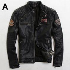 2015 O Novo Fazer o velho Magro Dos Homens Britânicos da moda Tendência Desgaste Multi-Padrão Dos Homens revestimento da motocicleta Dos Homens jaquetas de couro