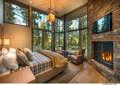 Modern mountain home built by NSM Construction in Martis Camp, Truckee. Architecture by Swaback Partners pllc.