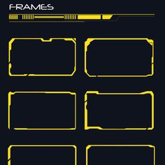 50 hi tech frames (custom shapes)