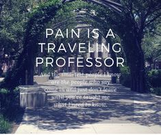Pain is a traveling professor and the smartest people I know are the people who say come inb and just don't leave until you've taught me what I need to know - Glennon Doyle Melton Love Warrior quote - YourSassySelf.com