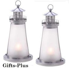15 White Frosted Lighthouse Candle Lantern Lantern Event Wedding  Centerpieces