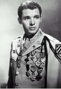Audie Murphy. Most people remember him for his 44 movies, but few realize that he is one of the most decorated soldiers in US history for his actions in WWII. He was awarded the Medal of Honor, Distinguished Service Cross, 2 Silver Stars, Legion of Merit, 2 Bronze Stars, 3 Purple Hearts, and many others including awards from France and Belgium.