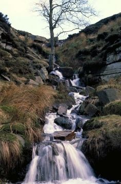 Read: Bronte Sisters Visit: Moors of West Yorkshire Yorkshire England, West Yorkshire, The Places Youll Go, Places To Visit, Bronte Sisters, Wuthering Heights, Beautiful Waterfalls, A Whole New World, Country Estate