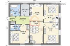 План одноэтажного дома 10 на 12   superdoms.ru