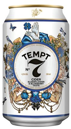 Tempt Cider, a Royal Unibrew/DDB Copenhagen alcoholic cider with stunning packaging design. If you look through the small keyhole on the backside label (of the bottles), you can read the hidden message: I have a secret - temptcider.com. Check out the video about the design strategy: http://gryechwald.com/Tempt-Cider