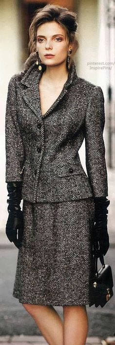 Herringbone | The House of Beccaria.  Gorgeous (and a herringbone tweed suit always looks classy!)