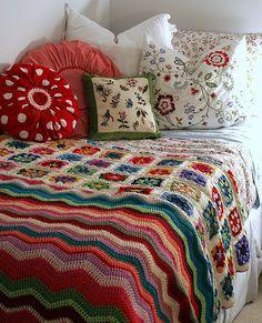 ♥♥♥ Afghan Blanket + Ikea bedlinen ♥♥♥