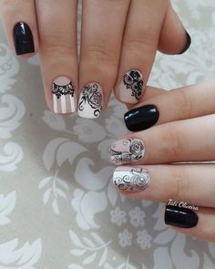 39 Modelos de Unhas para Madrinhas Nails 2018, Nail Spa, Nail Stamping, Spring Nails, Pretty Nails, My Nails, Nail Designs, My Favorite Things, Nail Stuff