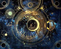 City in the golden sky As a laser enthusiast, as well as astronomy aficionado, people Ravenclaw, Moon Art, Sky Moon, Aesthetic Art, Oeuvre D'art, Art Inspo, Hogwarts, Fantasy Art, Concept Art