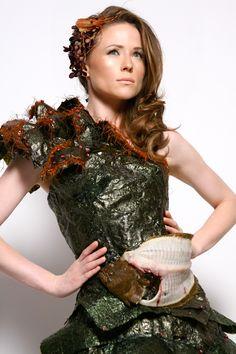 "GB SHRIVE Edible Couture  ""Seaweed Dress""  Monika Ka [model]  Joe Escobedo & Regard Tang [hair & mua]  Porsche Colbert & Jo Hann (style assistants)  Moja Ma'at [photographer]"