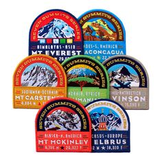 Seven Summits set of embroidered patches by Next Level Expeditions