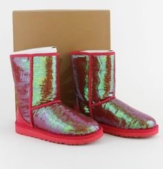 Iridescent Pink Sequin Uggs | 20 Pairs Of Uggs That Will Destroy Your Faith In Humanity