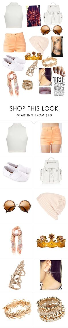 """Yoo"" by chelseadacheetah ❤ liked on Polyvore featuring Jane Norman, TOMS, Topshop, River Island, Forever New, Talullah Tu, Miss Selfridge, Lucifer Vir Honestus and Skinfood"