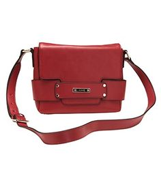 RED MARCS LEATHER LILY CROSSBODY BAG