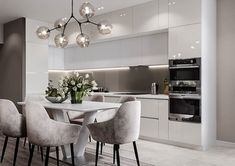 Open Plan Kitchen Living Room, Small Apartment Kitchen, Kitchen Room Design, Kitchen Cabinet Design, Modern Kitchen Design, Dining Room Design, Home Decor Kitchen, Interior Design Kitchen, Modern Kitchen Interiors