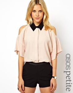 $30 !!!! ASOS PETITE Exclusive Shirt With Cold Shoulder