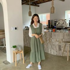 Cute Casual Outfits, Modest Outfits, Modest Fashion, Skirt Fashion, Pretty Outfits, Fashion Outfits, Korean Outfit Street Styles, Korean Street Fashion, Korean Outfits