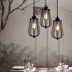 New Metal Pendant Lamp Vintage Industrial Bar Chandelier Hanging Ceiling Lamps Hanging Light Fixtures, Bathroom Light Fixtures, Hanging Lights, Diy Hanging, Diy Pendant Light, Pendant Lighting, Pendant Lamp, Ceiling Pendant, Rustic Lighting
